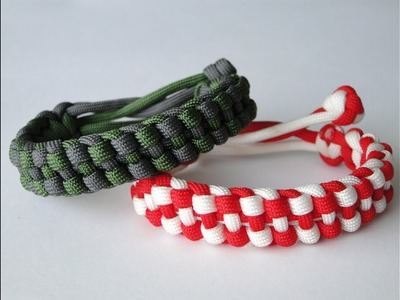 """How to Make """"modified"""" 2 Color Track Knot Paracord Bracelet-Inspired by Track Knot.Mad Max Style"""
