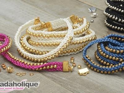 How to Make the Beaded Flat Kumihimo Bracelet Set - An Exclusive Beadaholique Kit