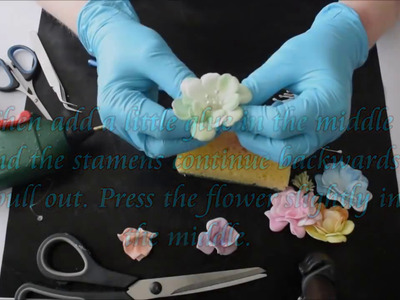 How to make your own stamens and flowers with Foamiran - Part two