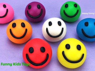 Learn Colors Play Doh Balls Smiley Face Ice Cream Peppa Pig Elephant Molds Fun & Creative for Kids
