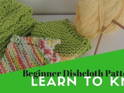 Learn to knit | Beginner Dishcloth Pattern
