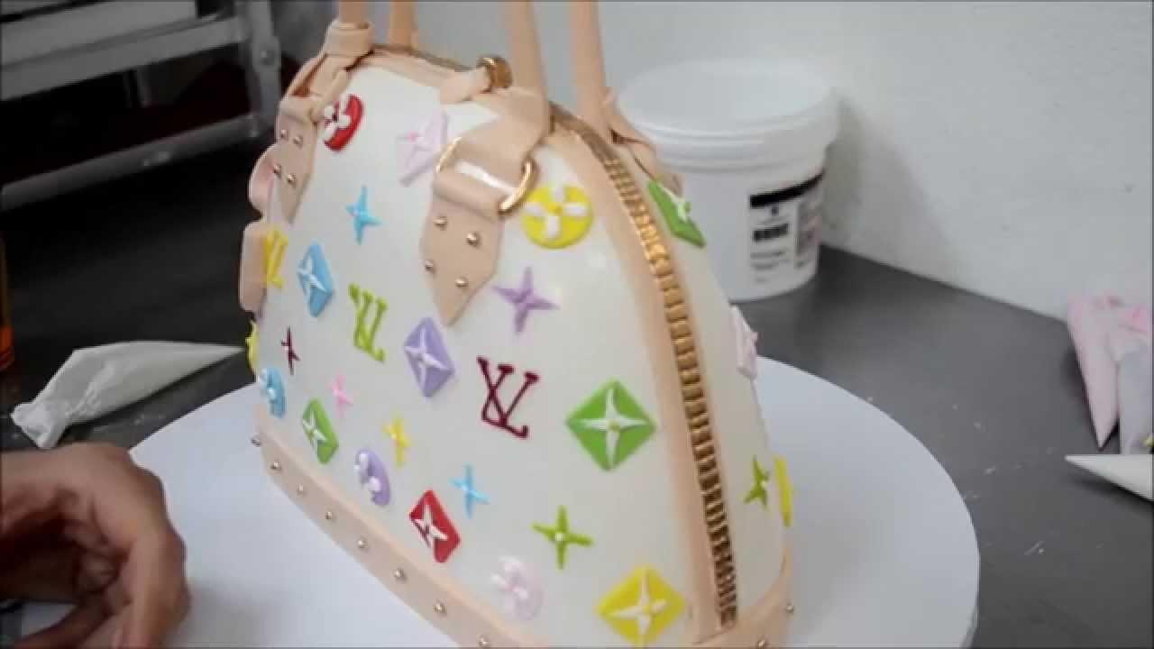 Louis Vuitton Purse Cake tutorial video