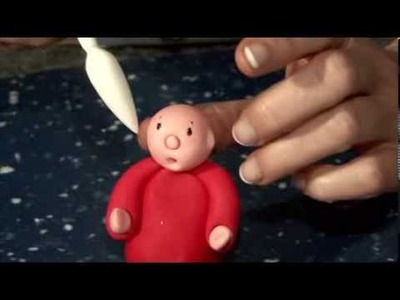 Make a Father Christmas sugarcraft model - quick and easy