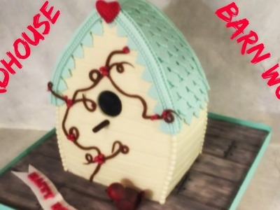 Making A Birdhouse & Barn Wood Cake!