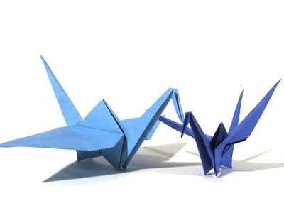 Origami Crane - Easy Origami Tutorial - How to make an easy origami crane