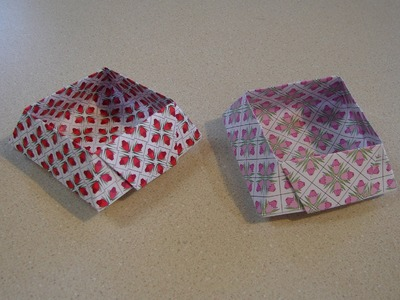 Origami- Truncated Pyramid Box or Cake Box