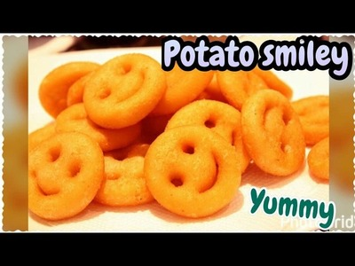 Potato Smiley Recipe | Homemade Easy Crispy Smiley | Cook With Monika
