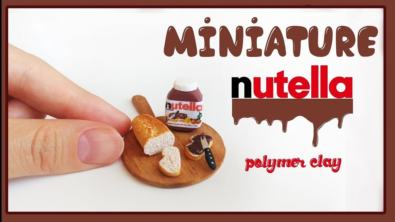 Realistic Miniature Nutella and Bread DIY - Polymer Clay Tutorial