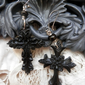 Resin, Gothic Earrings