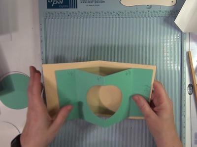 Sari's fun card folding technique 9:1 - PEEK-A-BOO CARD. TUNNEL CARD. SHADOW BOX CARD - tutorial