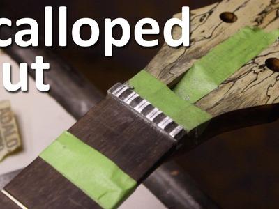 Scalloping an Aluminum Nut - Guitar Build - Part 29