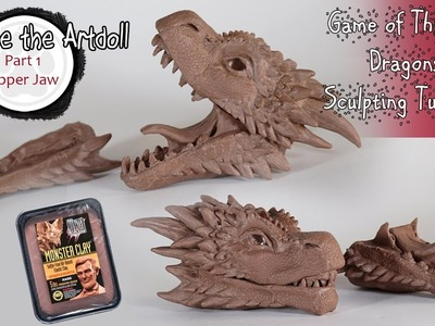 Sculpting Game of Thrones Dragon with Monsterclay - Part 1 upper jaw
