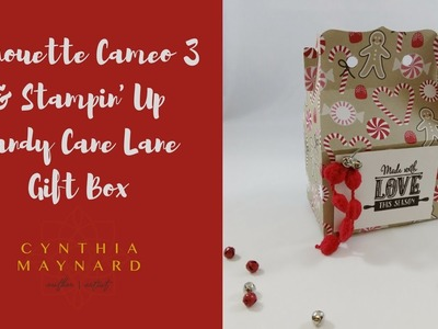 Silhouette Cameo 3 & Stampin' Up Candy Cane Lane Gift Box Jingle Bells