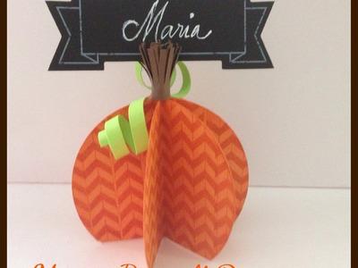Thanksgiving Pumpkin Place Card Holder