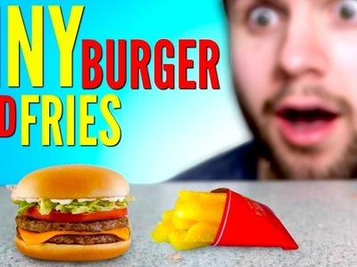 TINY BURGER & FRIES - How To Make Mini McDonald's Meal