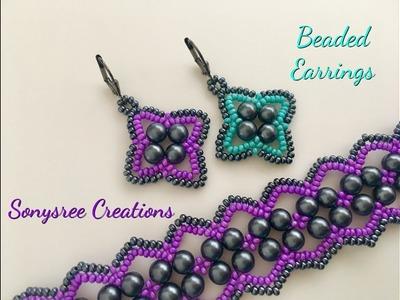 """""""Vault"""" Earrings DIY Beaded Earrings DIY"""