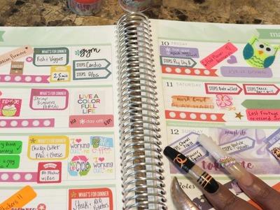 What's In My Erin Condren|Weekly Spread 3.6.17-3.12.17