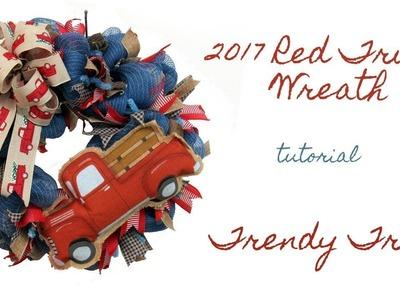 2017 Red Truck Wreath Tutorial Facebook Live