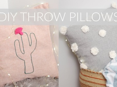 3 TRENDY NO-SEW WAYS TO UPCYCLE THROW PILLOWS.CASES || Katie Bookser