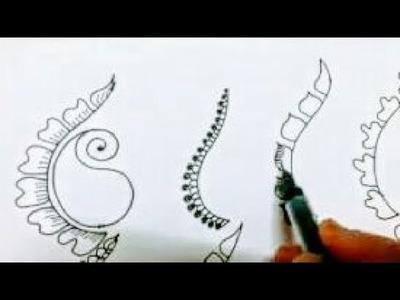 Basic steps of Mehndi Design Class -13 for Beginners Tutorial