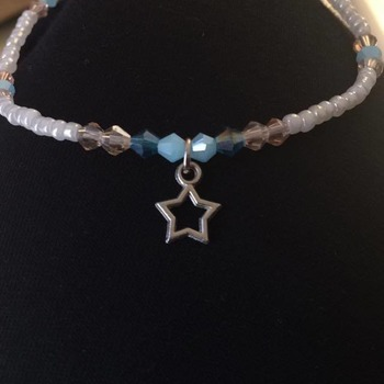Beaded Anklet - consists of crystal beads