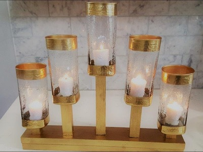 Centerpiece DIY - 5 Light Candle Holder Using Dollar Tree Vases