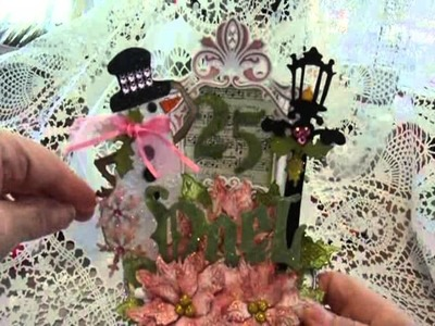 Christmas Altered Spool Decoration featuring Tim Holtz Dies
