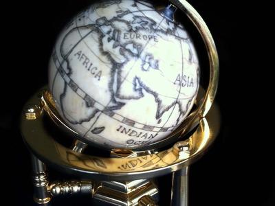 Creating a scrimshaw globe, step by step