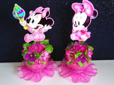 Decoracion de Minnie Mouse para Baby Shower
