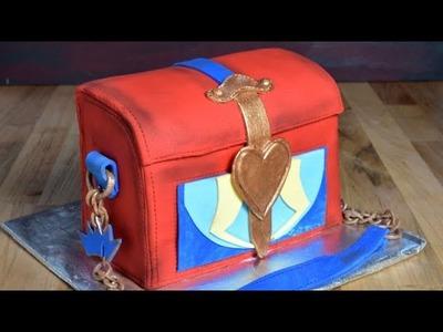 DISNEY DESCENDANTS - EVIE RED BOX PURSE CAKE by HANIELA'S