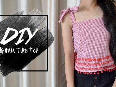 DIY Button Up Into Ruffled Patterned Tube | Injoyy