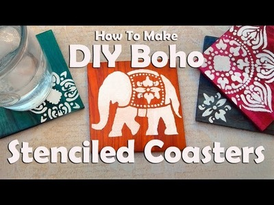 DIY Coasters: How To Make Dyed & Stenciled Boho Coasters