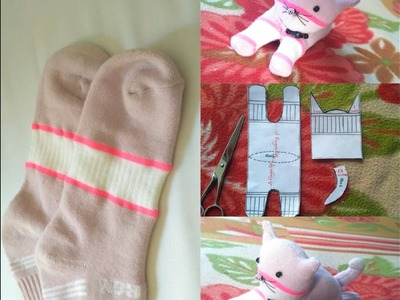 DIY crafts.Socks toy.cat.How to make DIY stuffed cat.toys.VIEWER'S CHOICE