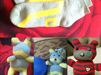 DIY Cute Socks-Teddy Bear.Convert Old Socks into Cute Teddy-Bear.VIEWER'S CHOICES