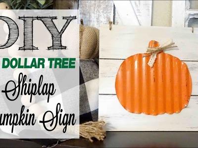DIY Dollar Tree Shiplap Pumpkin Sign