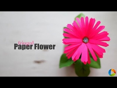 DIY Fringed Paper Flower