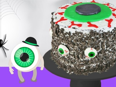 DIY Halloween Eyeball Cake | Decorating With Frosting | Kids Cooking and Crafts
