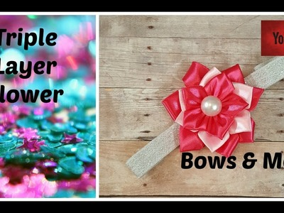 EASY TO MAKE LAYERED FLOWERED Step by Step Tutorial EASY KANZASHI FLOWER How To DIY