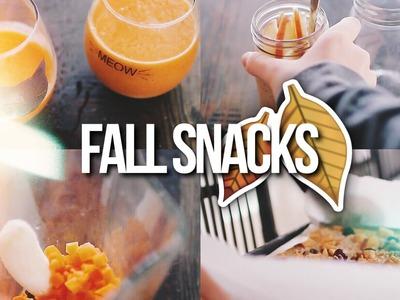 FALL SNACK IDEAS 2016!. Easy & Vegan!