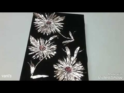 FOIL PAPER ART.with disposable vessal. best out of waste