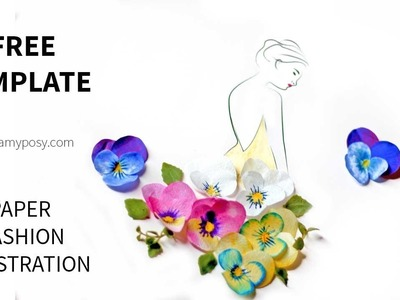 [FREE template] How to illustrate with pansy flower
