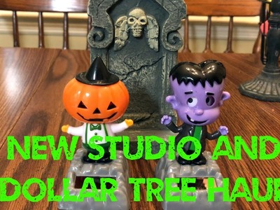 Getting the studio Halloween ready and dollar store haul - vlog