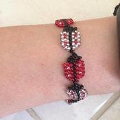 Handmade Ladybird Bracelet