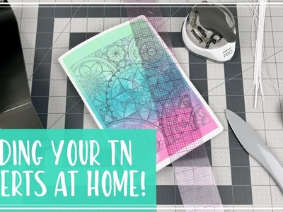 How to bind Traveler's Notebook inserts at home!