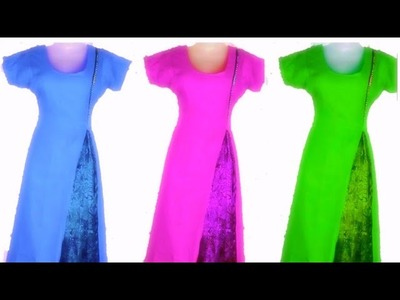 How to cut and stitch easy front side slit kurti