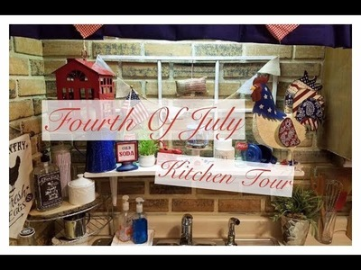 How to decorate a small Apartment Kitchen for the Fourth Of July | 2017