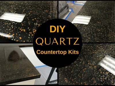 HOW TO: DIY Black Quartz Countertop Resurfacing Kits.Leggari's New Countertop Kit