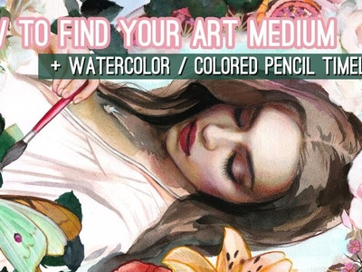 How to find the right art medium without wasting money. WATERCOLOR + COLOR PENCIL TIME-LAPSE
