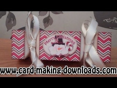 How To Make A 3D Cracker By www card making downloads com