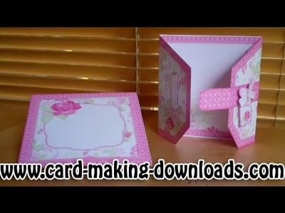 How To Make A Buckle Style Card www.card-making-downloads.com
